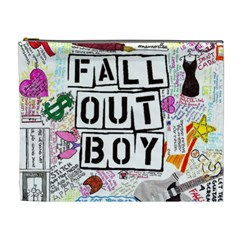 Fall Out Boy Lyric Art Cosmetic Bag (xl) by Samandel