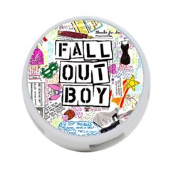 Fall Out Boy Lyric Art 4 Port Usb Hub (one Side)