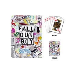 Fall Out Boy Lyric Art Playing Cards (mini)  by Samandel