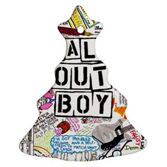 Fall Out Boy Lyric Art Christmas Tree Ornament (two Sides) by Samandel