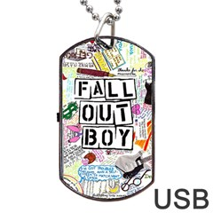 Fall Out Boy Lyric Art Dog Tag Usb Flash (one Side)
