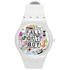 Fall Out Boy Lyric Art Round Plastic Sport Watch (m) by Samandel