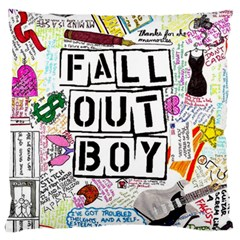 Fall Out Boy Lyric Art Large Flano Cushion Case (one Side)