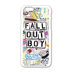 Fall Out Boy Lyric Art Apple Iphone 6/6s White Enamel Case by Samandel