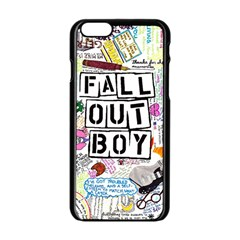 Fall Out Boy Lyric Art Apple Iphone 6/6s Black Enamel Case by Samandel
