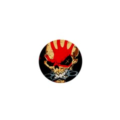 Five Finger Death Punch Heavy Metal Hard Rock Bands Skull Skulls Dark 1  Mini Buttons