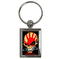 Five Finger Death Punch Heavy Metal Hard Rock Bands Skull Skulls Dark Key Chains (rectangle)