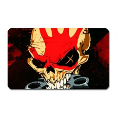Five Finger Death Punch Heavy Metal Hard Rock Bands Skull Skulls Dark Magnet (rectangular)