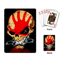 Five Finger Death Punch Heavy Metal Hard Rock Bands Skull Skulls Dark Playing Card
