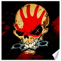 Five Finger Death Punch Heavy Metal Hard Rock Bands Skull Skulls Dark Canvas 16  X 16