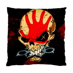 Five Finger Death Punch Heavy Metal Hard Rock Bands Skull Skulls Dark Standard Cushion Case (one Side)