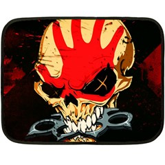 Five Finger Death Punch Heavy Metal Hard Rock Bands Skull Skulls Dark Fleece Blanket (mini)