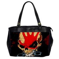 Five Finger Death Punch Heavy Metal Hard Rock Bands Skull Skulls Dark Office Handbags by Samandel