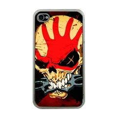 Five Finger Death Punch Heavy Metal Hard Rock Bands Skull Skulls Dark Apple Iphone 4 Case (clear)