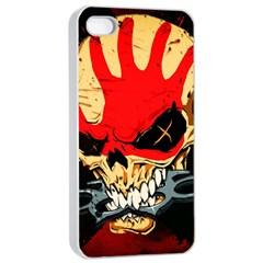Five Finger Death Punch Heavy Metal Hard Rock Bands Skull Skulls Dark Apple Iphone 4/4s Seamless Case (white)