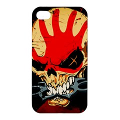 Five Finger Death Punch Heavy Metal Hard Rock Bands Skull Skulls Dark Apple Iphone 4/4s Hardshell Case