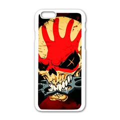 Five Finger Death Punch Heavy Metal Hard Rock Bands Skull Skulls Dark Apple Iphone 6/6s White Enamel Case