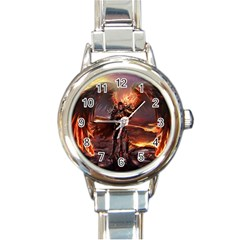 Fantasy Art Fire Heroes Heroes Of Might And Magic Heroes Of Might And Magic Vi Knights Magic Repost Round Italian Charm Watch