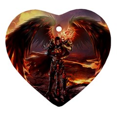 Fantasy Art Fire Heroes Heroes Of Might And Magic Heroes Of Might And Magic Vi Knights Magic Repost Ornament (heart)