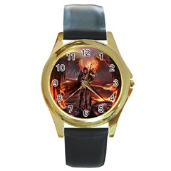 Fantasy Art Fire Heroes Heroes Of Might And Magic Heroes Of Might And Magic Vi Knights Magic Repost Round Gold Metal Watch