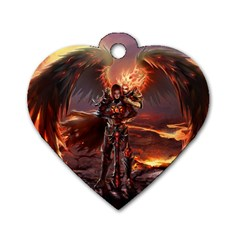 Fantasy Art Fire Heroes Heroes Of Might And Magic Heroes Of Might And Magic Vi Knights Magic Repost Dog Tag Heart (two Sides)