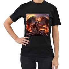 Fantasy Art Fire Heroes Heroes Of Might And Magic Heroes Of Might And Magic Vi Knights Magic Repost Women s T Shirt (black)