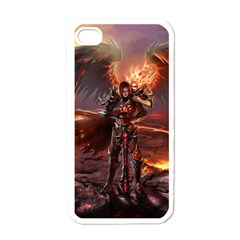 Fantasy Art Fire Heroes Heroes Of Might And Magic Heroes Of Might And Magic Vi Knights Magic Repost Apple Iphone 4 Case (white)