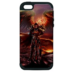 Fantasy Art Fire Heroes Heroes Of Might And Magic Heroes Of Might And Magic Vi Knights Magic Repost Apple Iphone 5 Hardshell Case (pc+silicone)