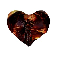 Fantasy Art Fire Heroes Heroes Of Might And Magic Heroes Of Might And Magic Vi Knights Magic Repost Standard 16  Premium Heart Shape Cushions