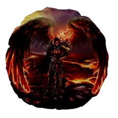 Fantasy Art Fire Heroes Heroes Of Might And Magic Heroes Of Might And Magic Vi Knights Magic Repost Large 18  Premium Flano Round Cushions