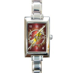 Flash Flashy Logo Rectangle Italian Charm Watch