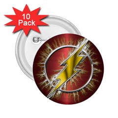 Flash Flashy Logo 2 25  Buttons (10 Pack)