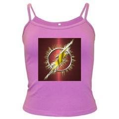 Flash Flashy Logo Dark Spaghetti Tank