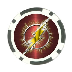Flash Flashy Logo Poker Chip Card Guard
