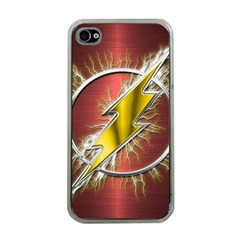 Flash Flashy Logo Apple Iphone 4 Case (clear)