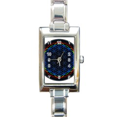 Flower Of Life Rectangle Italian Charm Watch