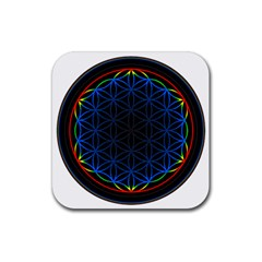 Flower Of Life Rubber Coaster (square)