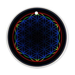 Flower Of Life Round Ornament (two Sides)