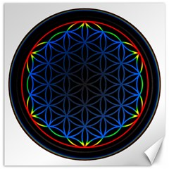 Flower Of Life Canvas 12  X 12