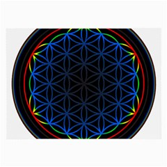 Flower Of Life Large Glasses Cloth (2 Side) by Samandel