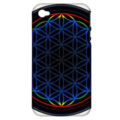 Flower Of Life Apple Iphone 4/4s Hardshell Case (pc+silicone)