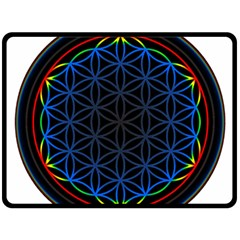 Flower Of Life Double Sided Fleece Blanket (large)
