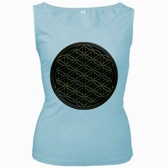 Flower Of Life Women s Baby Blue Tank Top