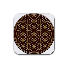 Flower Of Life Rubber Square Coaster (4 Pack)