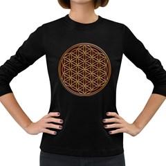 Flower Of Life Women s Long Sleeve Dark T Shirts