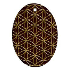Flower Of Life Oval Ornament (two Sides)
