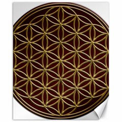 Flower Of Life Canvas 16  X 20
