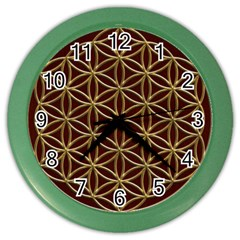 Flower Of Life Color Wall Clocks