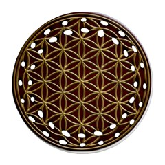 Flower Of Life Ornament (round Filigree)