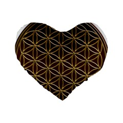 Flower Of Life Standard 16  Premium Heart Shape Cushions